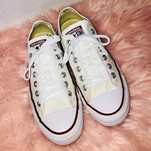 Converse white All star low cut sneakers